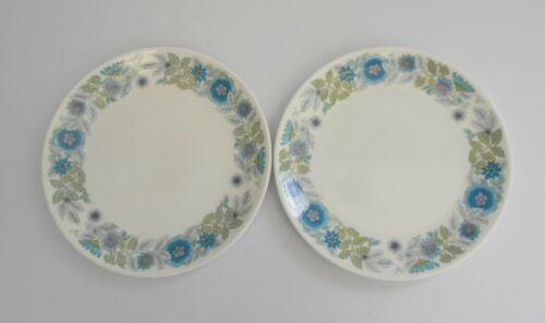 "Wedgwood /""Clementine/"" English Bone China Pair of 8 inch Salad//Dessert Plates."