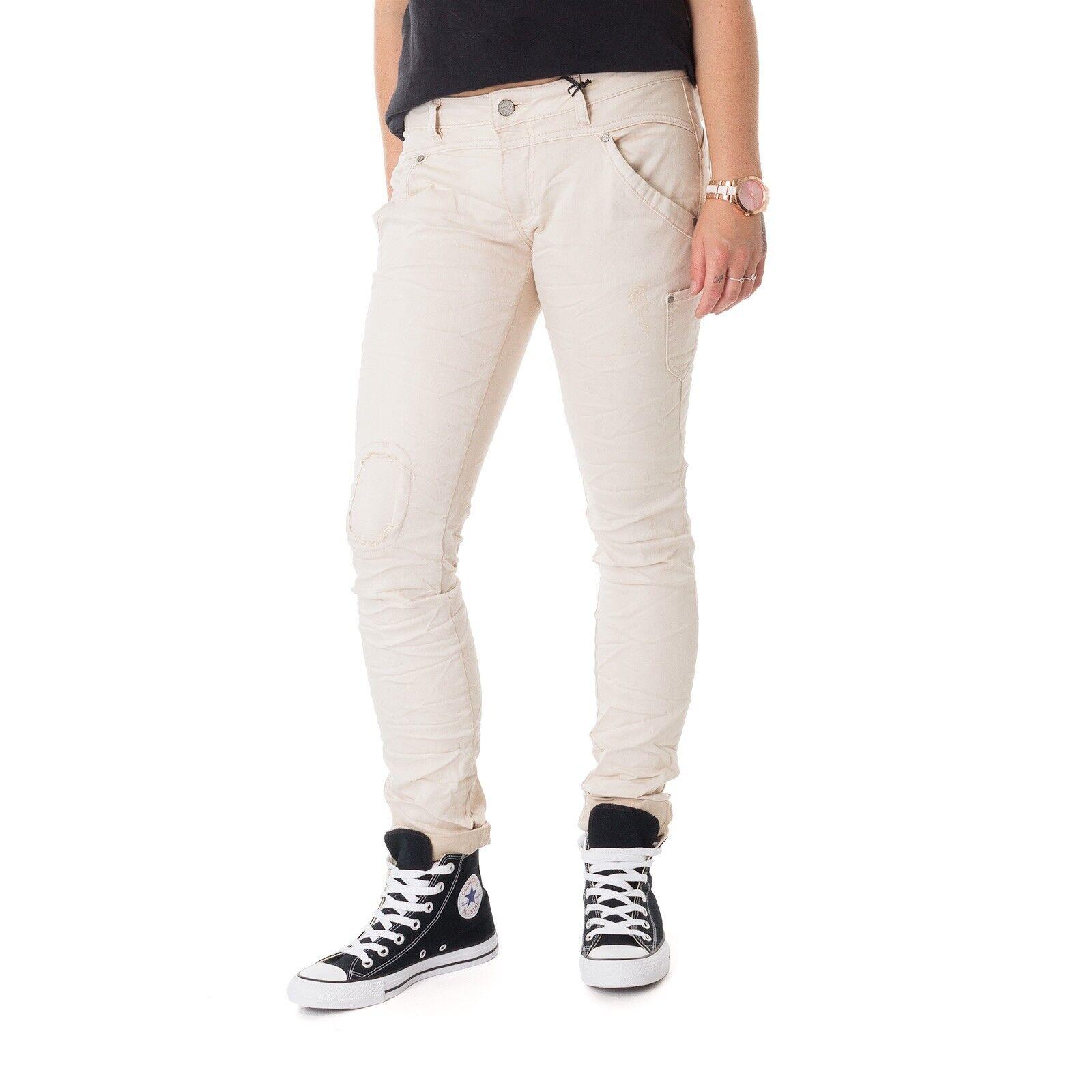 Buena Vista Milano Stretch Twill Jeans Damen Hose beige 15195