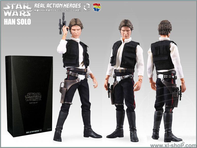 Medicom   Sideshow Star Wars Episode IV Han Solo 12-inch 1 6 Figure (RARE)