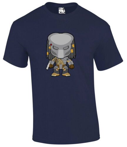 Predator Masked Alien Cartoon Sci-Fi Horror Movie T-shirt