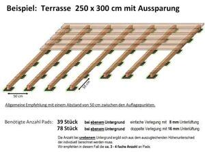 Hervorragend Terrassenbau Pad 100x100x8 WPC Terrassendielen Unterkonstruktion WN94