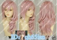 Hot Final Fantasy Lightning Srah Long Mix Pink Cosplay Wigs/wig