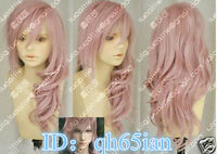 Hot Final Fantasy Lightning Srah Long Mix Pink Cosplay Wigs/wig