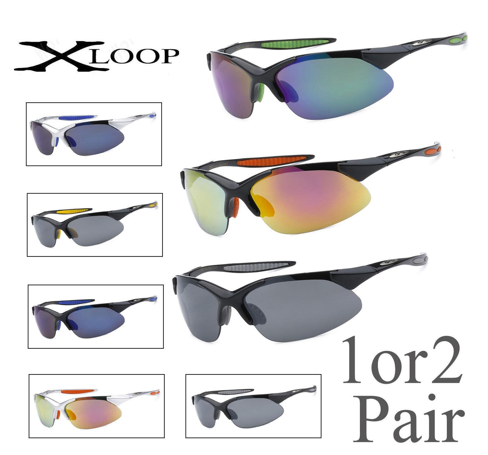 1 Oder 2 Paar X-Loop Halbrand Sport Fahrrad Fischen Golfen Laufen Sonnenbrille