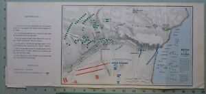 1863 Crimea Guerra Mapa / Battle Of El Alma 1st Plan French Flota Bourliouk