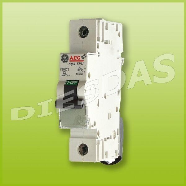1 Stk AEG GE Sicherungsautomat B 16 A  EP61 B16A 1p  LS Leitungsschutzschalter