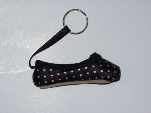So Danca Ballet Pointe Shoe Key Ring Floral or Dots Various Colours Keyring