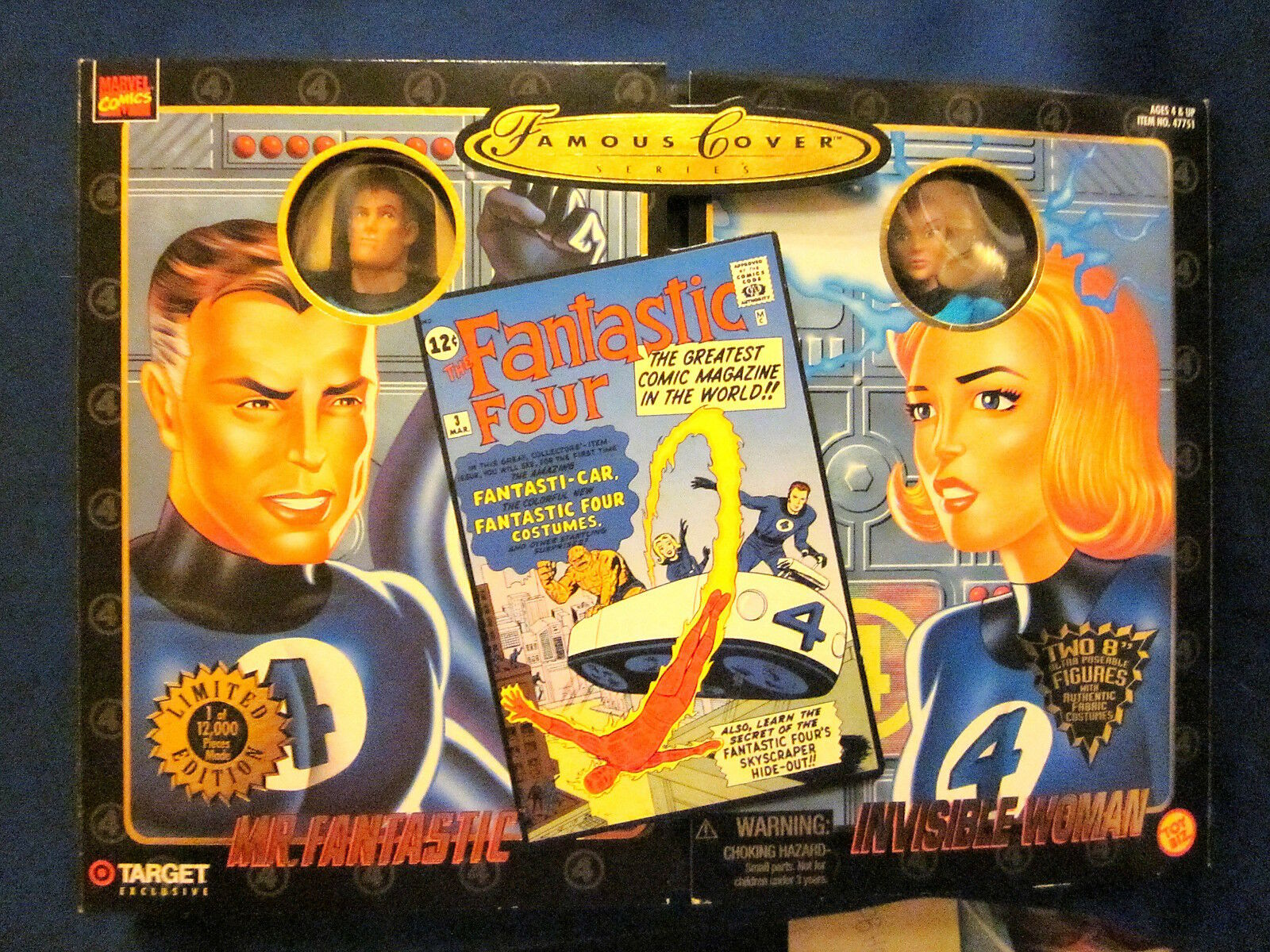 Marvel Comics Famous Cover Series Fantasic Four Mr. Fantastic Invisible Woman