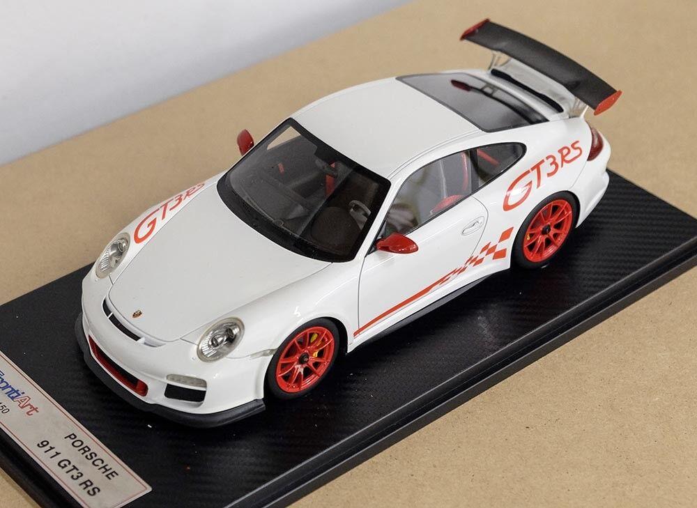 Porsche 911 GT3 Rs white red Limitée 1 18 Modèle Fronti-art F010-02