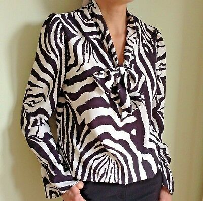 john zack blouse-top-tie neck