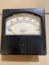 Large Vintage Weston Dc Volts Meter Measures 0 300 Vdc Model 741 Panel Gauge