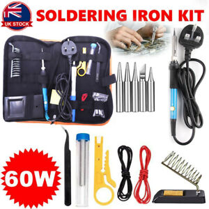 Adjustable-Temperature-60W-Soldering-Iron-Kit-Electronics-Welding-Irons-Tool-UK