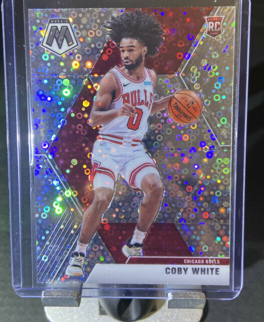 2019-20 PANINI MOSAIC Coby White ( BULLS ) FAST BREAK DISCO PRIZM Rookie Card RC