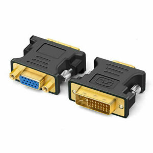 Cmple 1267-N DVI-A Male to VGA Male Adapter - GOLD