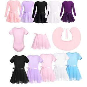 Kids-Toddler-Girls-Gymnastics-Leotard-Ballet-Skirt-Tutu-Dress-Dancewear-Costume