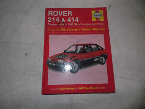 rover 214 414 89 92 petrol 1 4 haynes repair service manual ebay rh ebay co uk