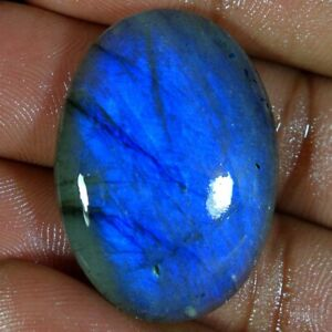 47.05Cts Natural Multi Fire Spectrolite Labradorite Oval Cabochon Loose Gemstone