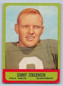 1963-SONNY-JURGENSON-Topps-Football-Card-110-PHILADELPHIA-EAGLES-SP