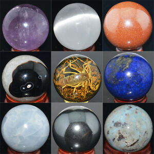 Details about Wholesale Lot Mix Natural Gemstone Sphere Crystal BALL