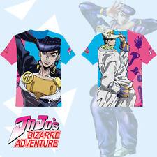 Anime JoJo's Bizarre Adventure Higashikata Josuke T-shirt Tee Tops Cosplay  Cool