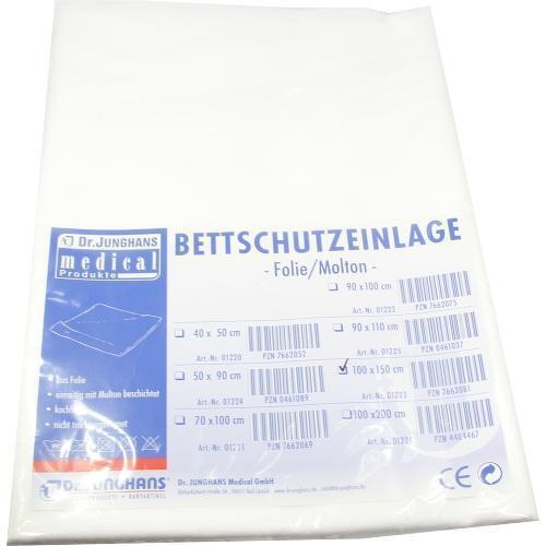 BETTSCHUTZEINLAGE 150x100cm Folie Molton 1St PZN 7662081