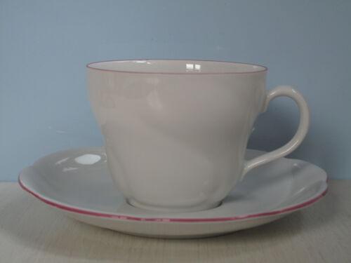 Seltmann Weiden Cornelia 28515 roter Rand Kaffeetasse mit Untertasse rosa rot