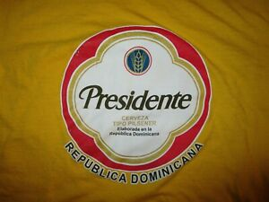 PRESIDENTE-BEER-T-SHIRT-Dominican-Republic-Cerveza-Pilsner-Yellow-Adult-SMALL-XS