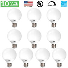10 Pack UL Energy Star Listed 6w Dimmable G25 LED Bulb 40w Equivalent Vanity