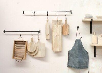 6 S HOOKS CLOTHS HANGING KITCHEN UTENSIL HANGER GARDEN RAIL POT PAN ETC..