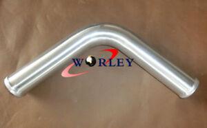 "2.5/"" 63mm 90 degree Aluminum Turbo Intercooler Pipe Piping Tube Tubing L=600mm"