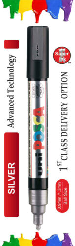 2.5mm // PC-5M 0.9mm-1.3mm Uni ball Posca Markers 15 Assorted Colours PC-3M