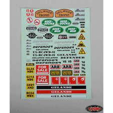 RC4WD Gelande 2 Decal Sheet for Land Rover Defender D90 Hard Body Kit Z-B0038