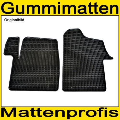 Gummimatten Gummifußmatten 2-teilig 100/% Paßform Renault Master III ab 02//2010