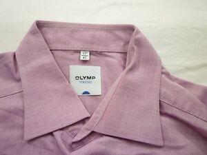 E7820-Olymp-Tendenz-Businesshemd-Kombimanschette-43-altrosa-dunkel-Unifarben-Neu