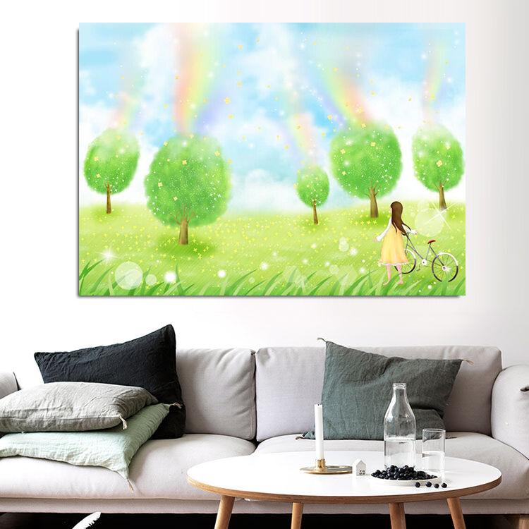 3D Cartoon bäume 522 Fototapeten Wandbild BildTapete Familie AJSTORE DE