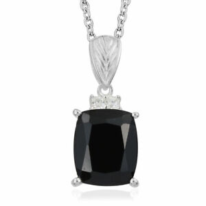 925 Sterling Silver Blue and White CZ Cubic Zirconia Simulated Diamond Square Pendant Necklace Jewelry Gifts for Women