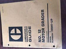 Cat Caterpillar No 12 Motor Grader Operation Maintenance Manual 89h