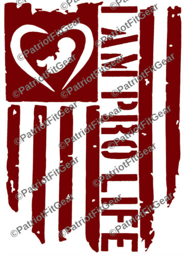 Pro Life,Flag,Unborn Lives Matter,Pray For The Unborn,Anti-abortion,Vinyl Decal