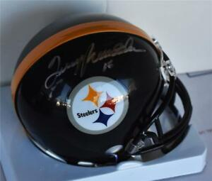 f0a7ef89f Image is loading Terry-Bradshaw-Signed-NFL-Pittsburgh-Steelers-MIni-Helmet-