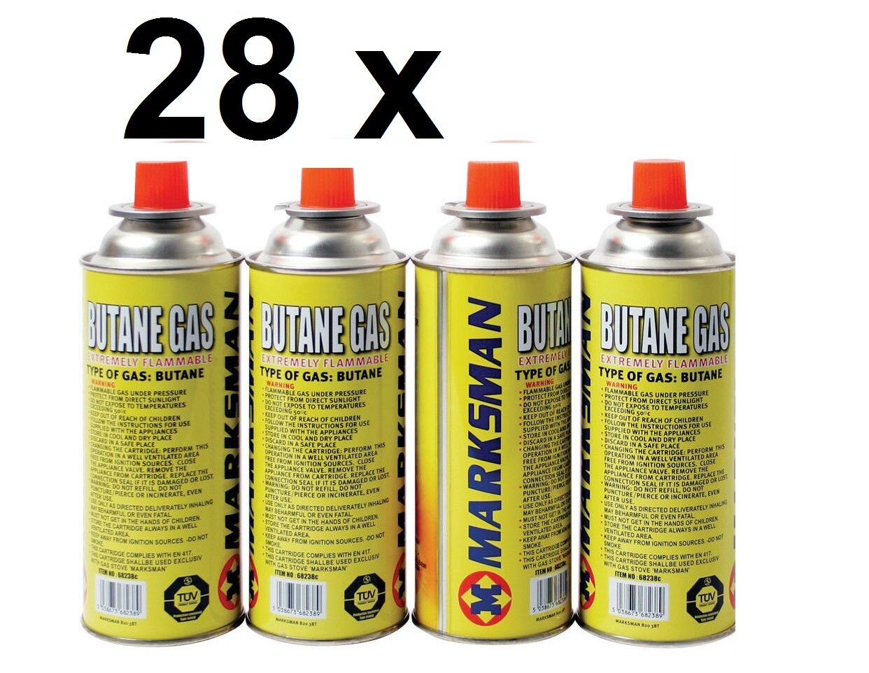 28x BUTANE CANISTER GAS BOTTLES FOR PORTABLE CAMPING COOKING HEATER STOVE COOKER