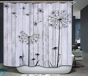 Image Is Loading Barn Board Thistle Shower Curtain Rustic Black White