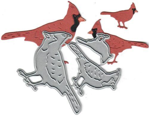stanging Dies...to die for metal cutting craft die Cardinal Family trio
