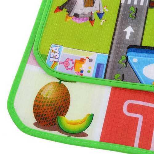 2 SIDE KIDS CRAWLING SOFT FOAM EDUCATIONAL GAME PLAY MAT PICNIC CARPET 200X180CM