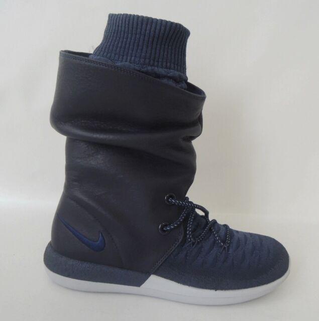 Nike Damen Roshe Zwei Hi Flyknit Turnschuhe 861708 SNEAKERS STIEFEL 400 4.5 UK