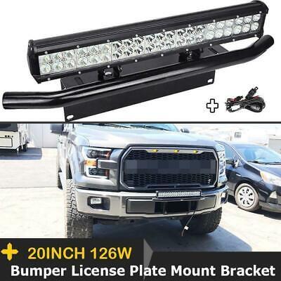 Heavy Duty Front Bumper License Plate Mount Bracket Holder For Fog//LED Light Bar
