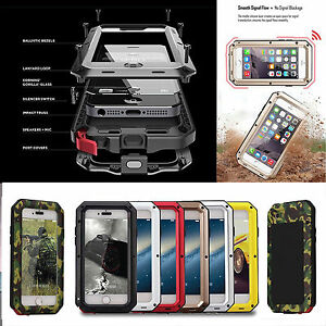 Shockproof-Military-Heavy-Duty-Gorilla-Glass-Metal-Cover-Case-for-iPhone-X-8-S9
