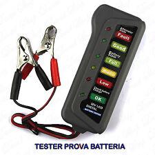 Tester Digitale Prova Batterie Auto Moto 12V a Led Test Batteria