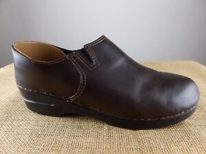 Dansko Burgundy Leather Nurse Clogs Women's Size 41 US 10.5-11