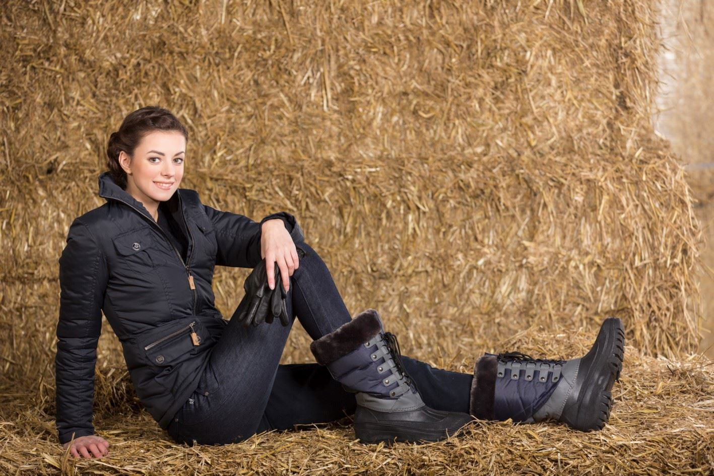 Lauria Garrelli Ladies Paris Waterproof Sole Durable Riding Winter Thermo Boots