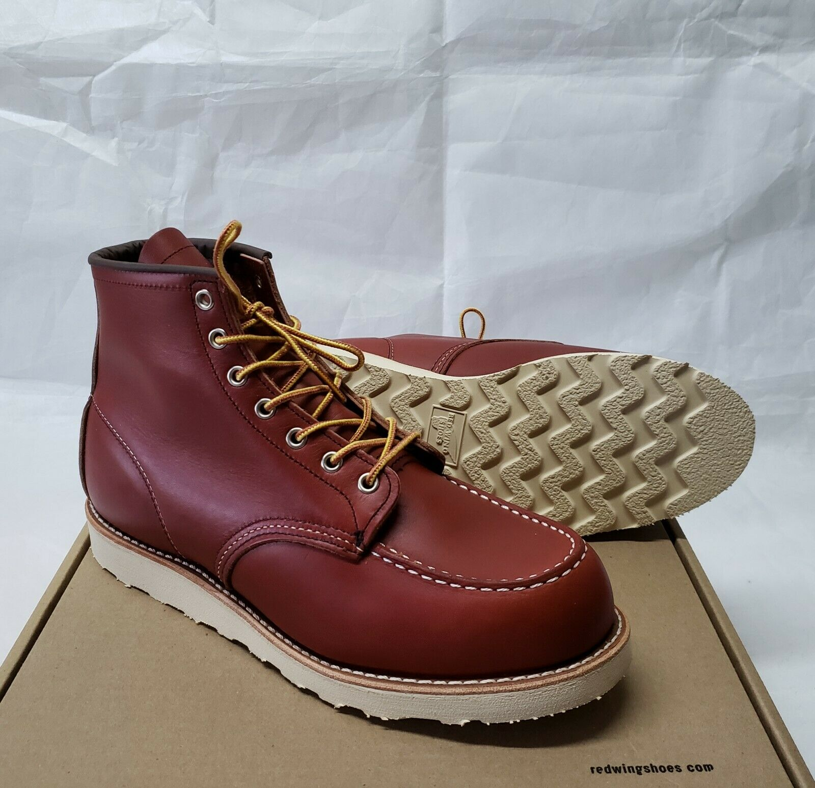 1st Quality rosso Wing Moc Toe oro Russet Portage 8131 stivali 875 Iron Ranger 8.5E